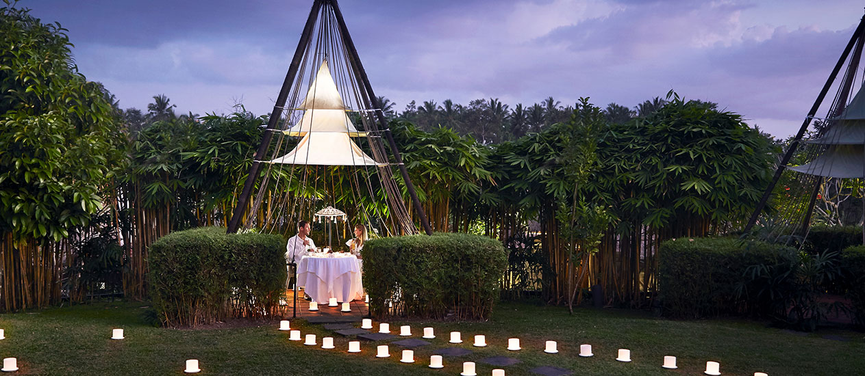 Candlelight Dinner at Tepee, Kamandalu Ubud, Bali