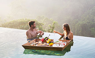 Floating Breakfast experience at Private Pool Villa or Infinity Pool
