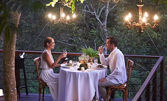 Forest Dining at Tree Deck for private romantic dinner
