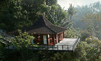 Rumah Yoga - private yoga studio at Kamandalu Ubud
