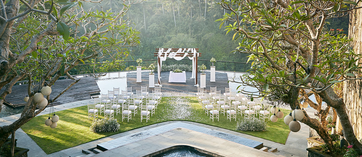 Wedding Decoration at Kamandalu Ubud, Bali